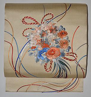 花束の刺繍帯