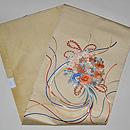 花束の刺繍帯 帯裏
