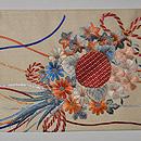 花束の刺繍帯 前中心