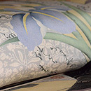 折り本に菖蒲の図染め名古屋帯 質感・風合