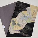 折り本に菖蒲の図染め名古屋帯 帯裏