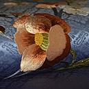 梅に椿刺繍帯 質感・風合