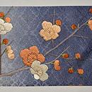 梅に椿刺繍帯 前中心
