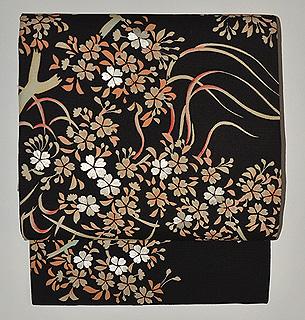 夜桜の図名古屋帯