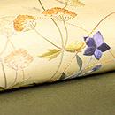 秋草の刺繍開き名古屋帯 質感・風合