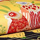 手織錦 花喰い鳥の名古屋帯 質感・風合