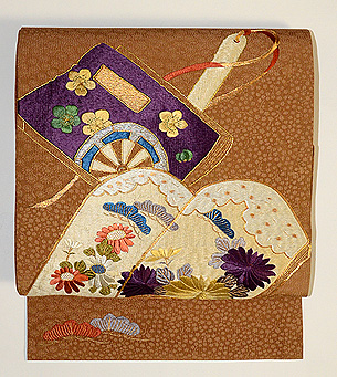 冊子文刺繍名古屋帯