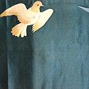 鳩の刺繍開き名古屋帯 前中心