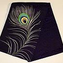 羽根の刺繍丸帯 帯裏