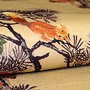 松の木に栗鼠の名古屋帯 質感・風合