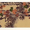 松の木に栗鼠の名古屋帯 前中心
