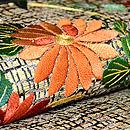 花籠に菊刺繍名古屋帯 質感・風合