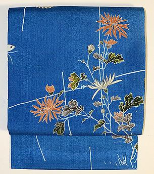 江戸縮緬菊の染帯