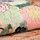 扇面に菊花刺繍名古屋帯  質感・風合