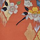 笙と桜の刺繍開き名古屋帯 前中心