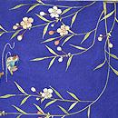 枝垂れ桜に鴛鴦の図開き名古屋帯 前中心