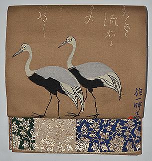 龍村平蔵製袋帯「其角歳且錦」