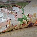 蝶に桜の図刺繍名古屋帯 質感・風合