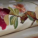 枝桜の図刺繍名古屋帯 質感・風合