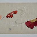 枝桜の図刺繍名古屋帯 前中心