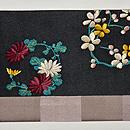 花丸文刺繍名古屋帯 前中心