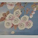 鴨と桜の図名古屋帯 前中心