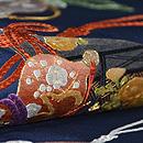綴に六つ瓢箪の刺繍帯 帯吉製作 質感・風合