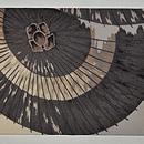 蛇の目傘に燕図名古屋帯 前中心