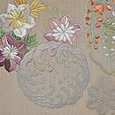 夏の花丸文刺繍袋帯 前中心