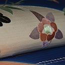 アールデコりんどうの花の図絽刺繍名古屋帯 質感・風合