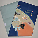 アールデコりんどうの花の図絽刺繍名古屋帯 帯裏