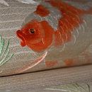 金魚刺繍夏帯 質感・風合