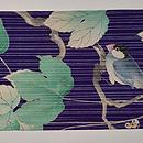 小鳥に山葡萄の名古屋帯 前中心