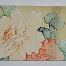 薔薇と桔梗の図名古屋帯 前中心
