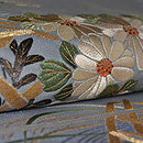 花籠の刺繍単衣帯 質感・風合
