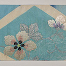 花籠の刺繍単衣帯 帯裏