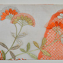 撫子に女郎花刺繍絽麻縮名古屋帯 帯裏