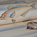 珊瑚に魚の図絽名古屋帯 質感・風合