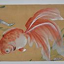 金魚に水草模様絽名古屋帯 帯裏