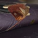 網に魚の図絽名古屋帯 質感・風合