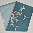 青地萩の刺繍名古屋帯 帯裏