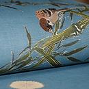 竹林の雀の図名古屋帯 質感・風合