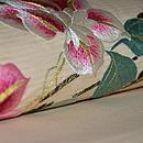 鉄線の花刺繍絽名古屋帯 質感・風合