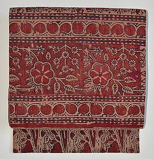 インド更紗ペルシャ模様名古屋帯