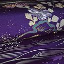 波に菊刺繍開き名古屋帯 質感・風合