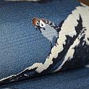 雪持ち松に雀の図名古屋帯 質感・風合