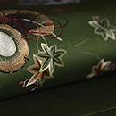 春秋の花に和楽器刺繍開き名古屋帯 質感・風合