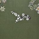 春秋の花に和楽器刺繍開き名古屋帯 前中心