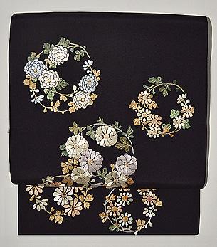 花丸紋刺繍名古屋帯