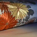 ぼかし地に菊の刺繍名古屋帯 質感・風合